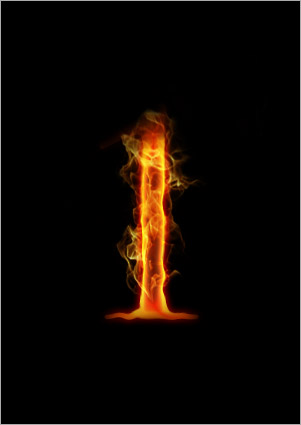 i letter in fire - photo #21